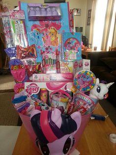 Inside my little pony easter basket
