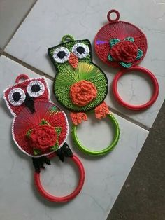 Monday the is fast approaching and I am planning to upcycle my CDs with crochet and post about it, are you planning something special for that extra day? There are lots of great ideas out ther…crochet is my favorite fiber art and my goal is to become a Crochet Kitchen, Crochet Home, Crochet Crafts, Crochet Projects, Sewing Projects, Crochet Owls, Crochet Doilies, Knit Crochet, Cd Crafts