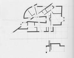 Alvaro Siza, plan and cross section for Casa Antonio Carlos Siza.  (Alvaro Siza, Private Houses 1954-2004).