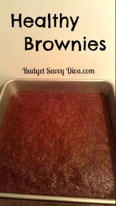Healthy Brownies Recipe