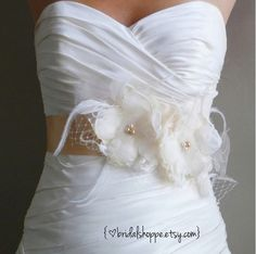 Wedding Sash Bridal Belt  Lacy -Champagne and Ivory Lace Bridal Sash