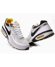 online store 3e8c7 f243a Nike Mens Air Max BW Trainers In White Black Yellow Air Max Classic, Cheap  Nike