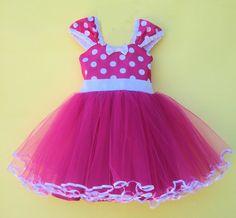 MINNIE MOUSE disfraz Tutu Vestido de partido caliente rosa lunares vestido super…