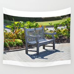 An Empty Bench Wall Tapestry by Lanjee  http://society6.com/product/an-empty-bench-4ov_tapestry