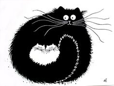 This may be used as another funny animal source. There is also good contrast in this image about black and white cats.