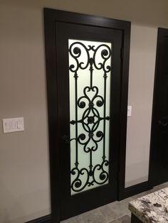 Wrought iron pantry door