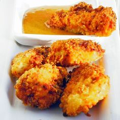 Coconut Chicken Nuggets  Very easy and would make a terrific Super Bowl Snack idea
