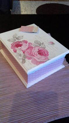 this is mine ; Decoupage Box, Wooden Boxes, Stencil, Crafts, Vintage, Home Decor, Wooden Chest, Decoupage, Crates