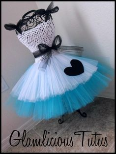 Alice in Wonderland Tutu dress   Tutu dress by GlamliciousTutus, $20.00