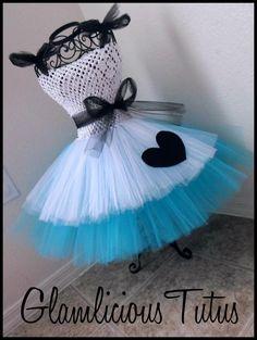 Alice in Wonderland Tutu dress   Tutu dress by GlamliciousTutus, $20.00