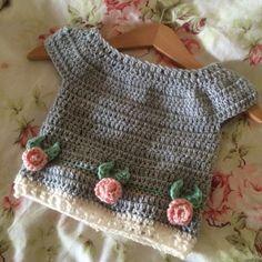 Capsleeve Rosie Jumper Crochet Pattern – Spitspot Crochet Baby Sweaters, Crochet Baby Clothes, Knit Or Crochet, Crochet For Kids, Baby Knitting, Crochet Hooks, Jumper Patterns, Crochet Patterns, American Girl Crochet