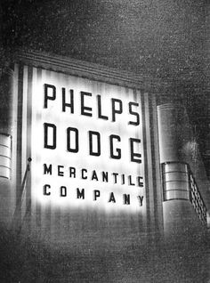 The Phelps Dodge Mercantile building in Bisbee, Arizona during 1939.  This image is from the photograph collection of the Bisbee Mining & Historical Museum.  Discover more Bisbee, Arizona images and artifacts at www.facebook.com/BisbeeMuseum.  #bisbee  #arizona  #mining  #phelpsdodge  #history