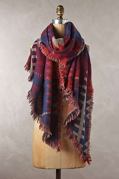 Ladder Trace Scarf - anthropologie, Cozy up with Keep this winter! Fashion Mode, Womens Fashion, Daily Fashion, Anthropologie, Vetements Clothing, Looks Chic, Fringe Scarf, Blanket Scarf, Cozy Scarf