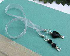 Hey, I found this really awesome Etsy listing at https://www.etsy.com/listing/186999226/jeweled-ribbon-bookmark-black-onyx-semi