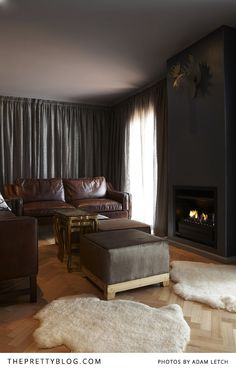 Comfortable lounge with a nice fire-place | Majeka House, Photo: Adam Letch, Decorating: Etienne Hanekom