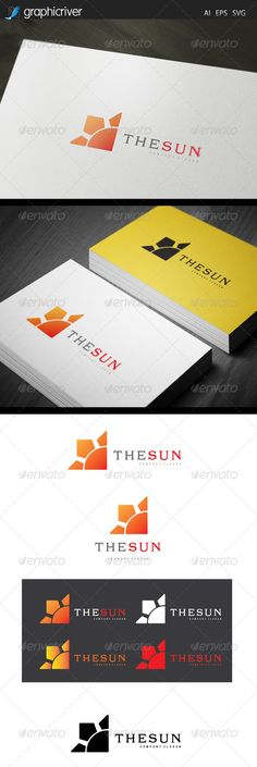 The Sun - Logo Design Template Vector #logotype Download it here: http://graphicriver.net/item/the-sun-logo/7621977?s_rank=914?ref=nesto