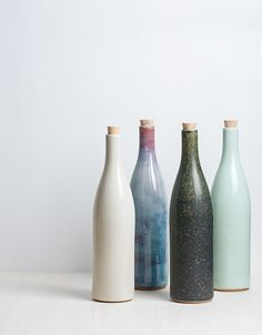 Painted wine bottles | simple and beautiful