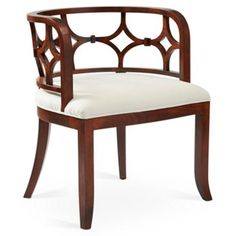 Check out this item at One Kings Lane! Lily Chair, White Linen