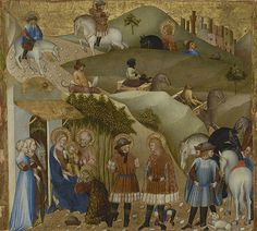 The Adoration of the Magi, 1427, Giovanni di Paolo, tempera and gold leaf on panel. Kröller-Müller Museum, Otterlo, the Netherlands