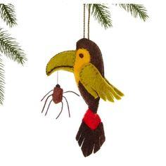 Toucan Felt Holiday Ornament - Silk Road Bazaar (O)