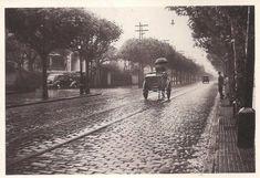 Avenida Angélica, esquina com Martinico Prado, em Higienópolis. (Foto de Hildegard Rosenthal, cerca 1940)