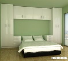 Resultado de imagen de built in bedroom wardrobe cabinets around bed