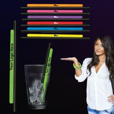 "9 Inch Custom Imprinted Glow Straws and Bracelets: Available Colors: Green, Blue, Red, Yellow, Purple, Pink, Orange Product Size: 9"". Imprint Area: 2 3/4"" x 3/16""; Straight Line Copy, Arial Font, 12 pt. (1/8'') Upper Case Only, 26 Characters Max. Imprint Method: Pad Print. Carton Weight: 30 lbs. Packaging: 1000. Material: Plastic. #customglowstraws #glowbracelets #promotionalproduct #glowpartygiveaways"