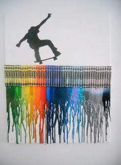 crayon art | ... silhouette melted crayon art pieces by Once Upon A Crayon on Etsy