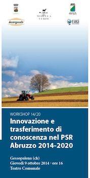 """Gessopalena , workshop :""""Innovazione e trasferimento di conoscenza nel PSR Abruzzo 2014-2020″"""