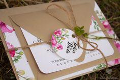 Invitacion Flores Vintage Boda