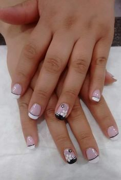 Super french manicure designs for short nails Ideas French Manicure Acrylic Nails, French Nail Art, French Tip Nails, Nail Manicure, Nail Art Designs, French Manicure Designs, Fingernail Designs, Cute Nails, Pretty Nails