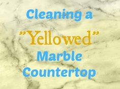 Causes & Solutions for Yellowing Marble Countertops: QUESTION: How do I get yellowing out of an ivory marble countertop?  ANSWER: The solution for cleaning yellowed marble countertops depends on what is causing