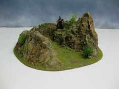 Wargame Terrain 40 MM 28 MM Mountain Stronghold Painted Resin WAR Game Scenery | eBay
