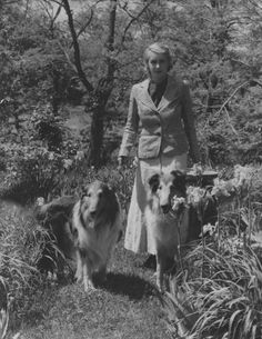 Margaret Wise Brown, children's author, with her two collies.