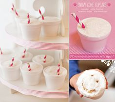 Snow Cone Cupcakes {Simple & Sweet}