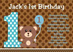 Teddy Bear Picnic Birthday Invitation By TheSilverLiningCoAU 1450
