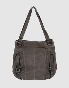 handbag with buckle straps/ tucks