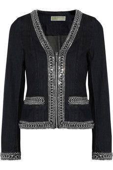 MICHAEL Michael Kors Chain-detailed denim jacket | THE OUTNET