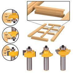Glass Door Router Bit Set Round Over Bead Shank Woodworking Cutter Tools for sale online