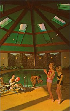 1950sunlimited: Indoor Pool at Tamarack Lodge, Greenfield Park, NY