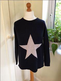 Navy Star Jumper