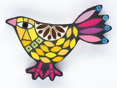 Yellow Walking Bird by Amanda Anderson