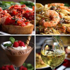 Garlic Shrimp Alfredo Dinner For Two by Tasty