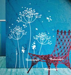 dandelions wall decalgirl wall decal wall decals by NatureStyle, $45.00