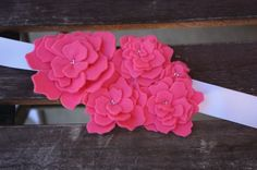cute felt flower belt idea for tween