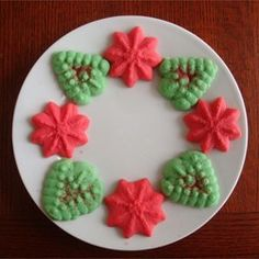 Butter Rich Spritz Butter Cookies - Bake for 7 minutes. 1 tsp each of almond extract and vanilla extract.