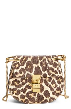Head over heels for this lavish leopard and gold Chloé bag.