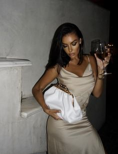 @Luba and her Charlotte white pouch Charlotte, Pouch, Bodycon Dress, Nye, Dresses, Woman, Instagram, Fashion, Vestidos