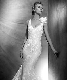 VIVI - Vestido de novia encaje estilo sirena   Pronovias