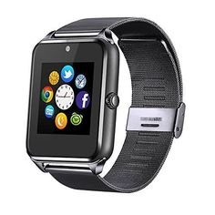 Smart Watch Cell Phone iPhone Android Smartphones Camera Bluetooth Black New #UnbrandedGeneric